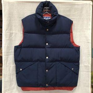 Vintage Men's Down Wind Puffer Snap Front Vest